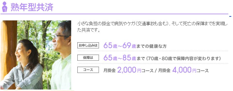 熟年型共済 埼玉県民共済の特徴とデメリット