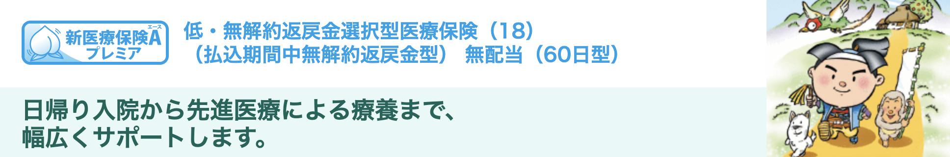 三井住友海上あいおい生命 新医療保険Aプレミア 介護重点プランの詳細